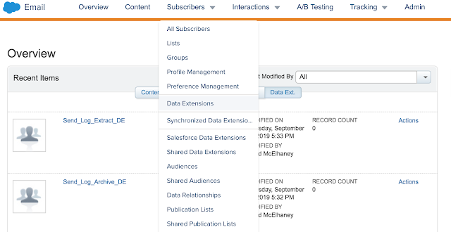 Access Data Extensions in Marketing Cloud