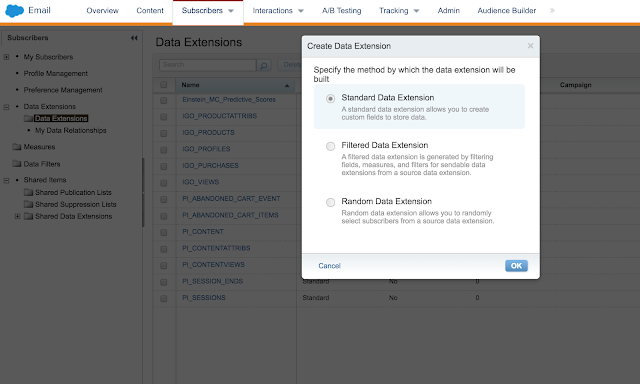 Difference between Data Extension vs Synchronized Data Extension vs Salesforce Data Extension in Marketing Cloud