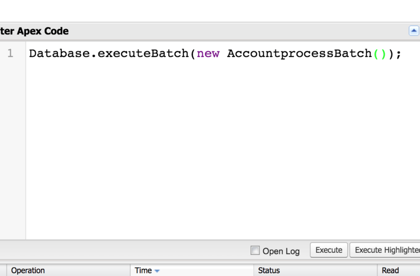 Dev Tip 3: Execute Batchjob from Anonymous Window/Dev Console