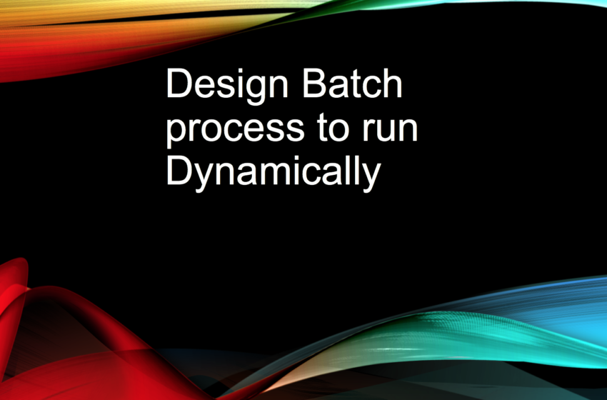 Design: Run Apex Batch Job Dynamically at desired intervals in Salesforce